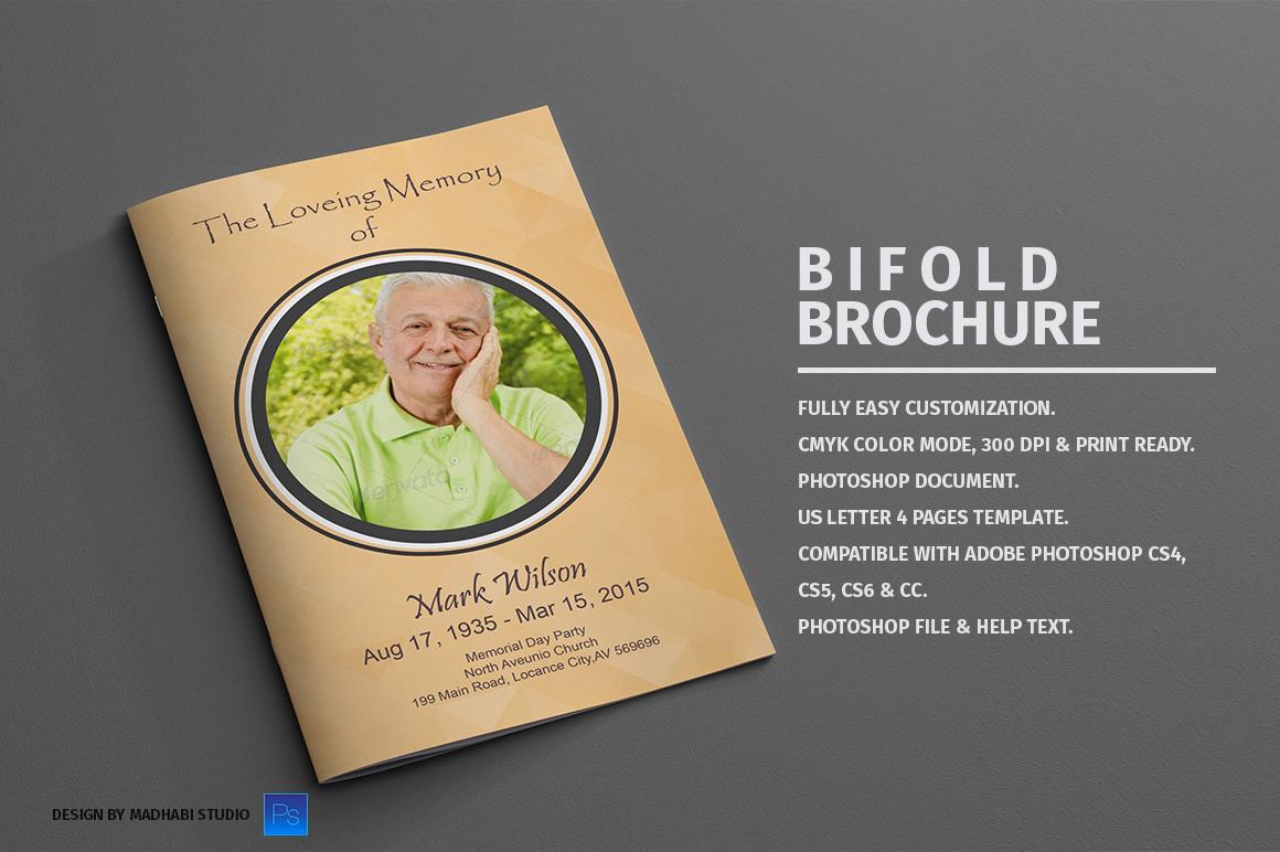 bi fold brochure word template free - funeral program bi fold template brochure templates on