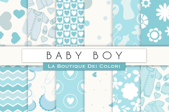 Baby Boy Digital Paper