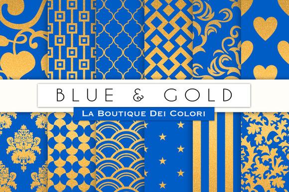 Blue Gold Digital Paper