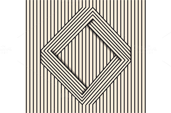 Line Art Illusion : Optical illusion line art graphics on creative market