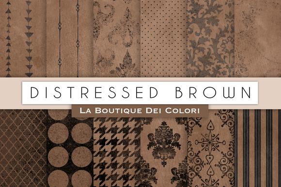 Distressed Brown Digital Paper