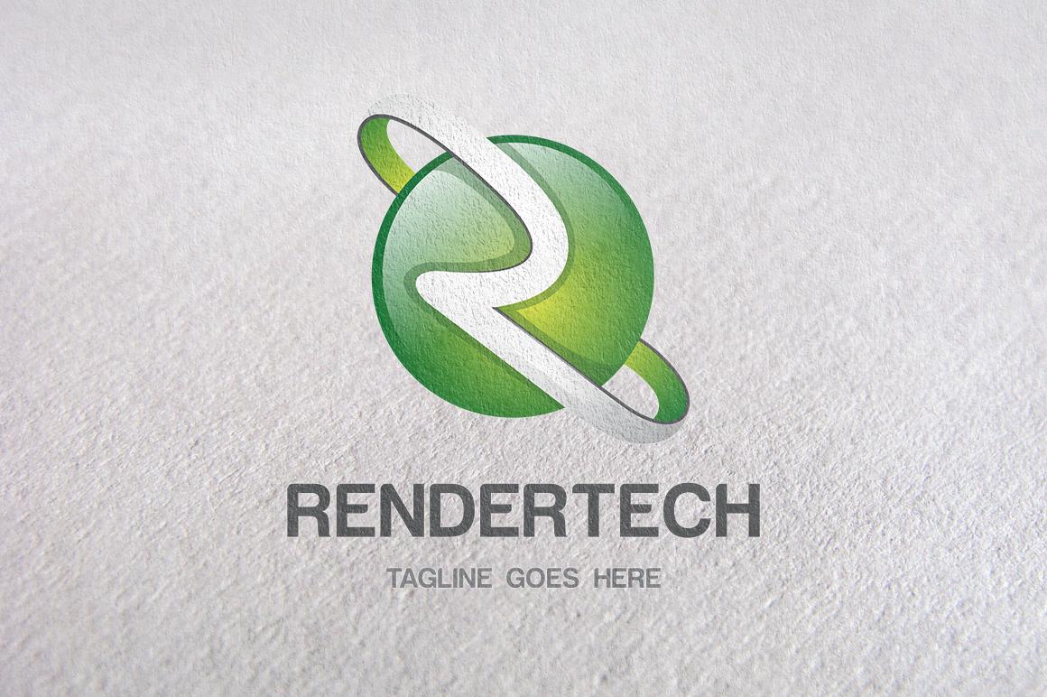 R Letter, R logo, 3D Logo templates ~ Logo Templates on ...