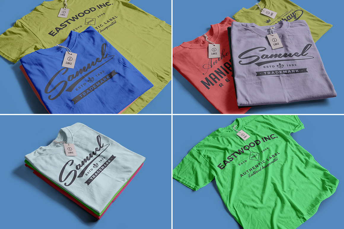 Color T-Shirt Mockups