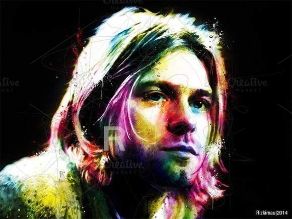Kurt Cobain In POP Art