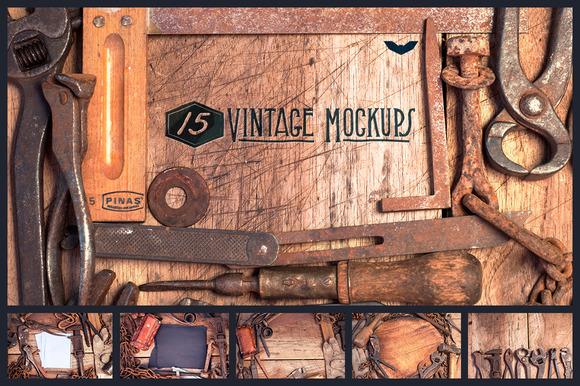 15 Vintage Mockups