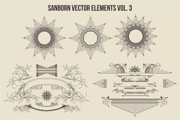 Sanborn Vector Elements Vol. 3 - Objects