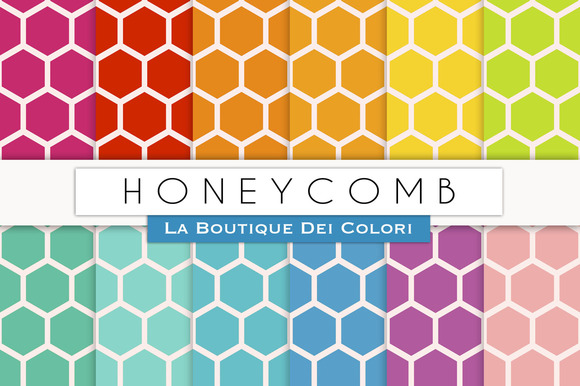 Colourful Honeycomb Papers