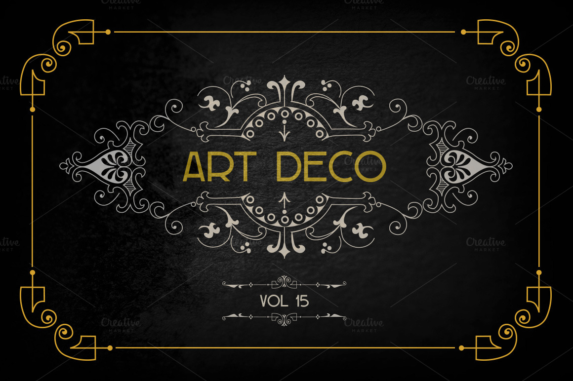 Art deco elements vol 15 illustrations on creative market for Deco 5 elements