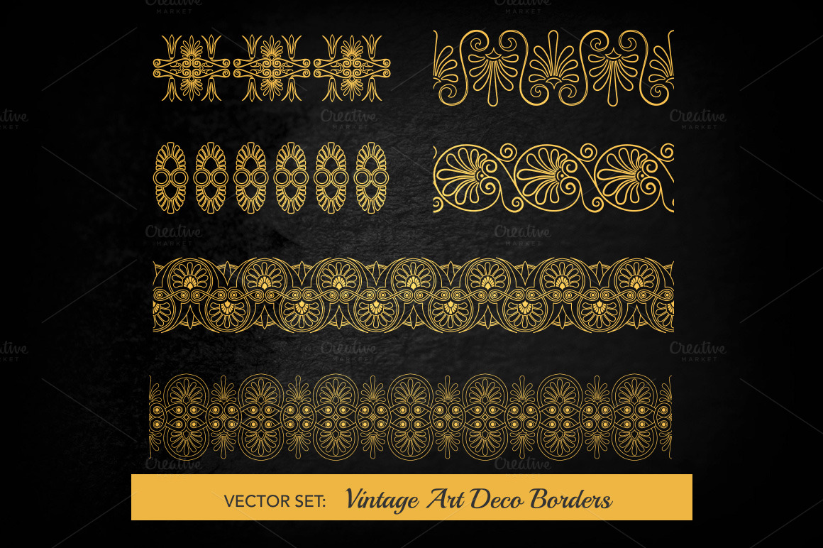 Art deco elements vol 15 illustrations on creative market - Deco vol ...