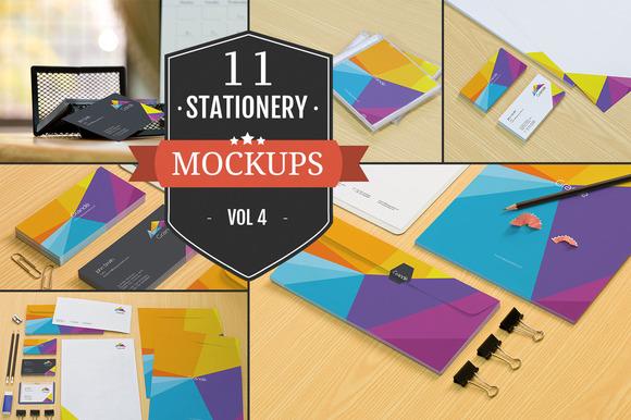 Branding Stationery Mockups Vol. 4 - Product Mockups