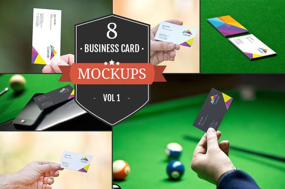 Business Card Mockups Vol. 1 - Product Mockups