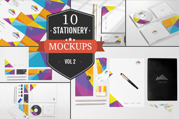 Beautiful Stationery Mockups Vol 2