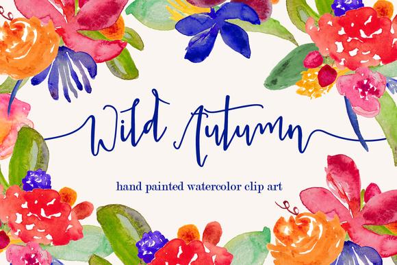 Wild Autumn Watercolor Clip Art