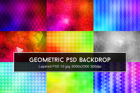 Geometric PSD Backdrop