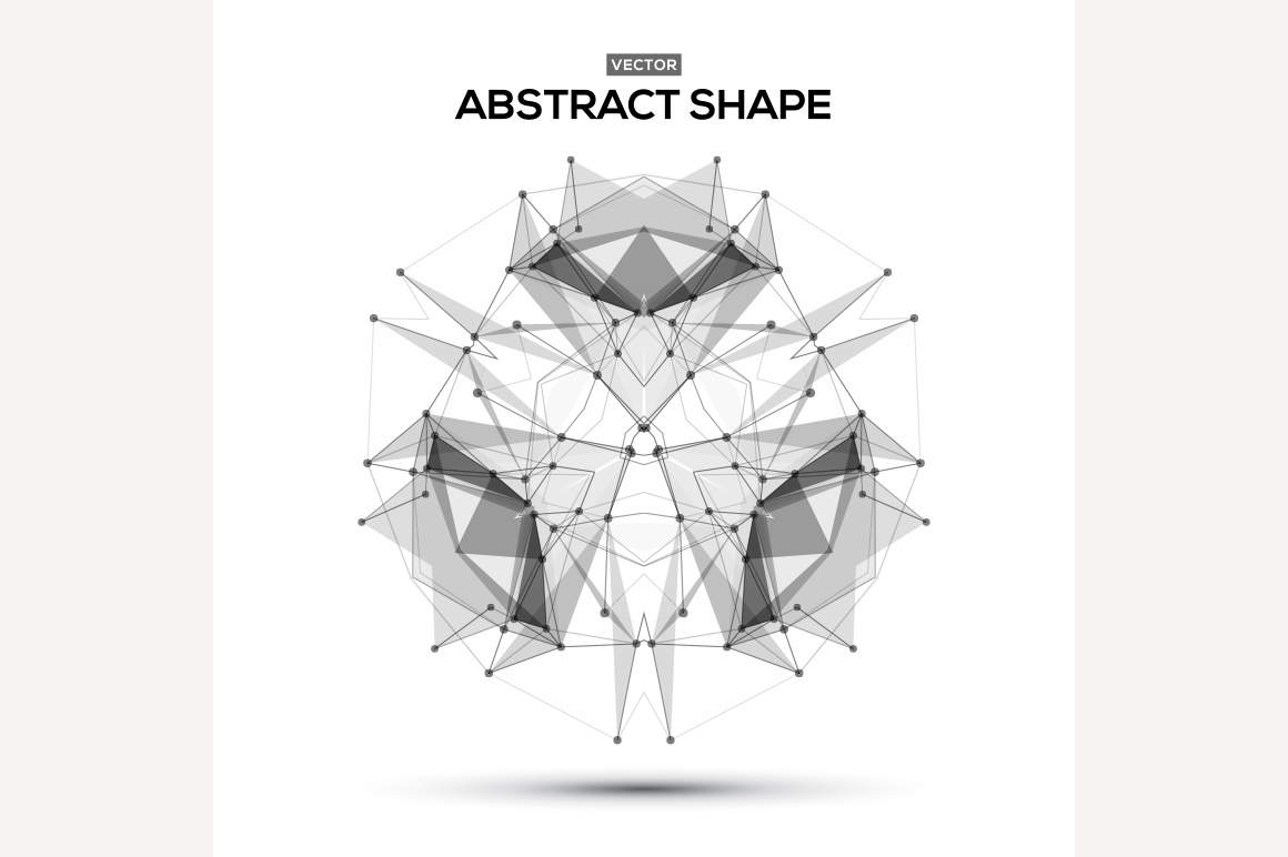 Abstract lowpoly geometric shape ~ Graphics on Creative Market