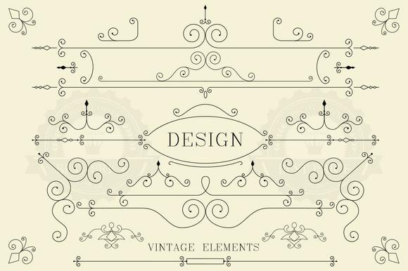 Vintage Design Retro Elements