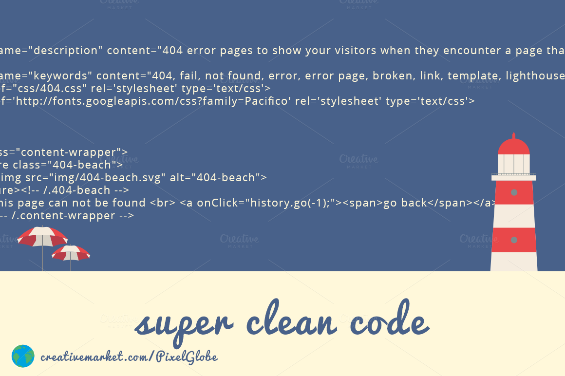 Beach error 404 html template screen5 for Drupal 404 template