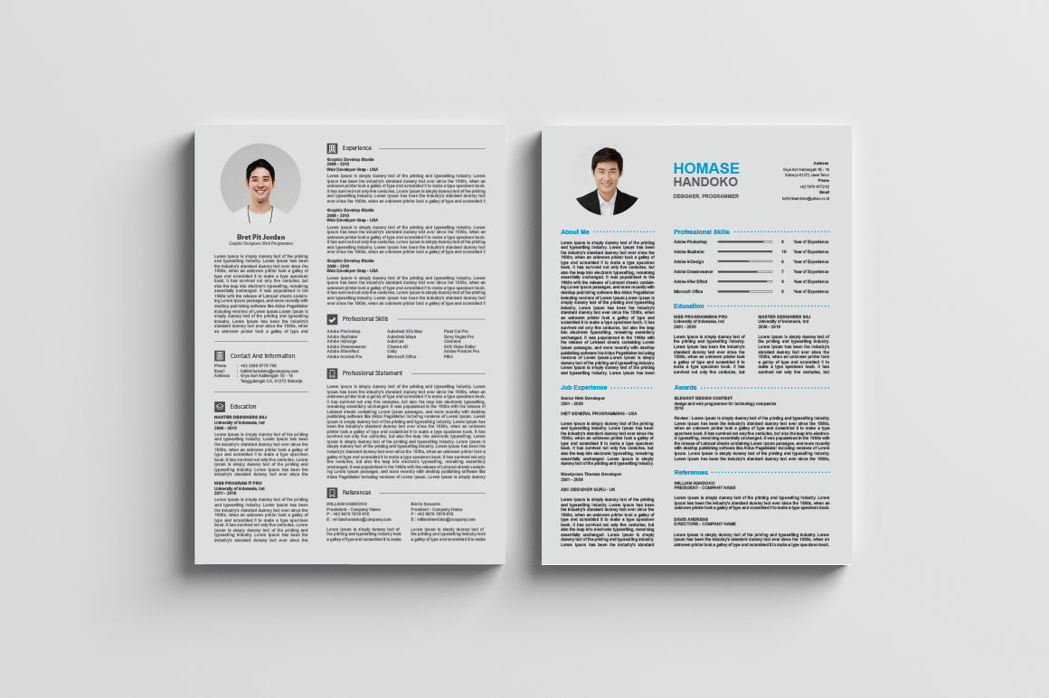 top 2 page cv    resumes    a4