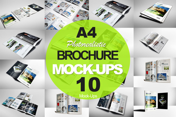 A4 Brochure Magazine Mock-ups