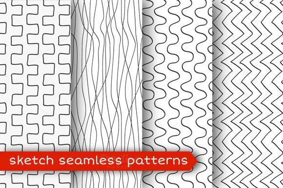 Sketch Seamless Pattern Set