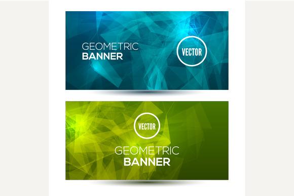Bright Horizontal Geometric Banners