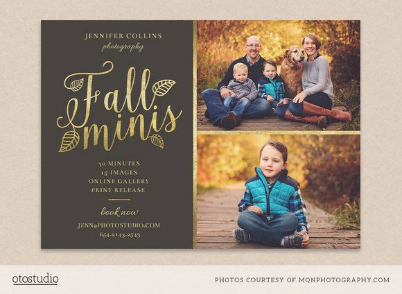 Fall minis marketing board template flyer templates on creative market for Photography marketing templates free