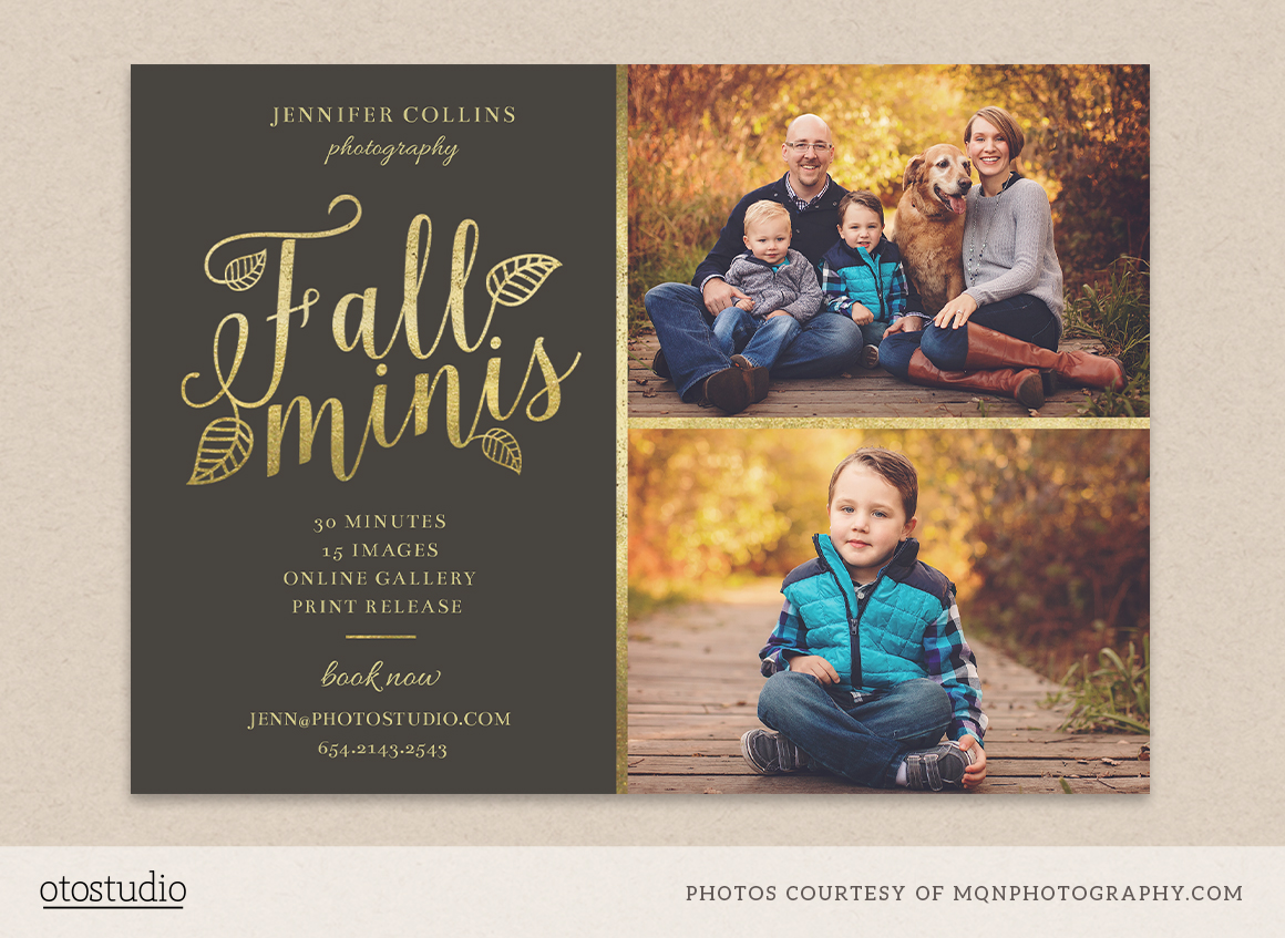 Fall minis marketing board template ~ Flyer Templates on ...