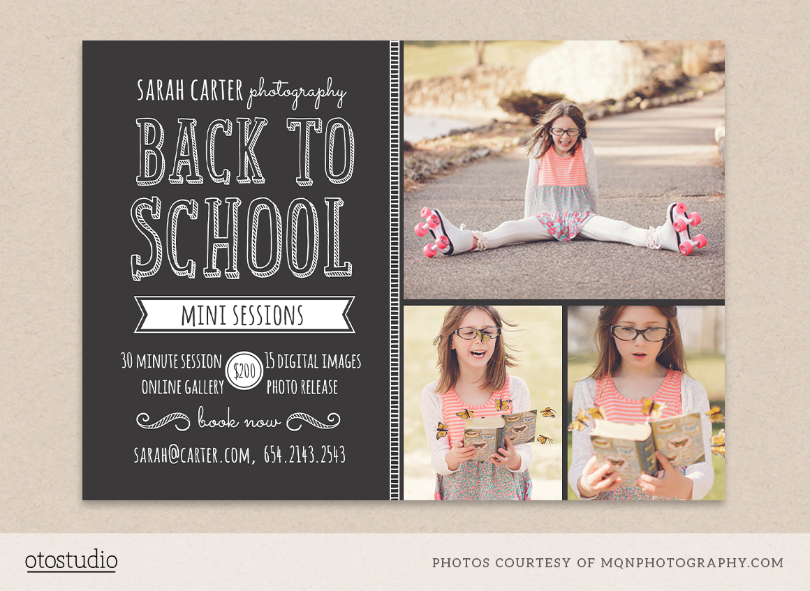 Back To School Mini Session Template Flyer Templates On