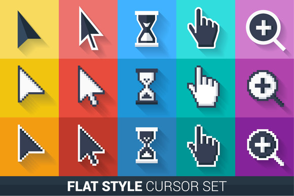 Flat Style Vector Pointers