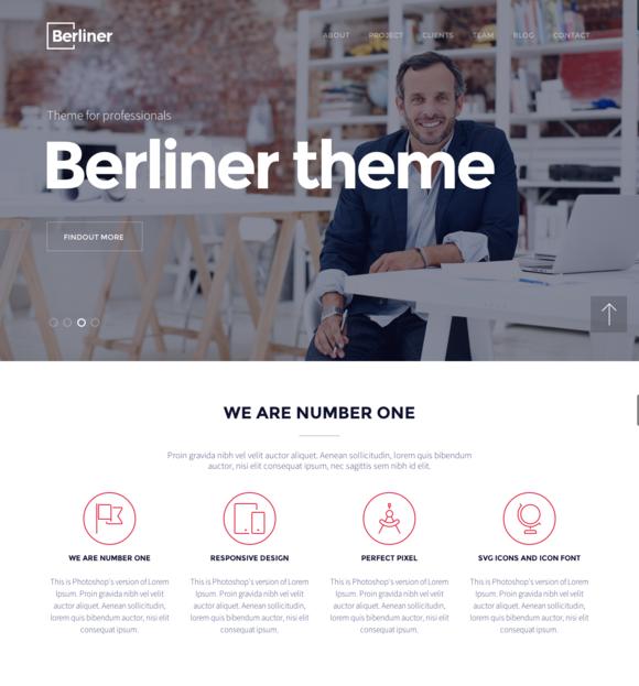 BERLINER - Creative WordPress Theme - Business