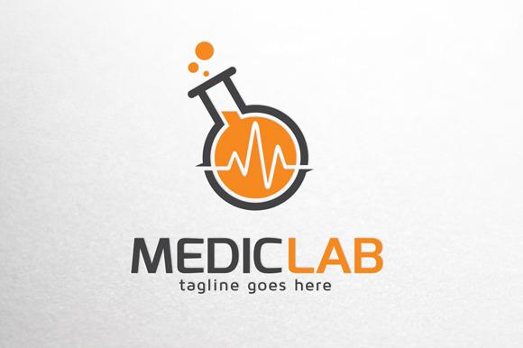 Medical Lab Logo Template Logo Templates On Creative Market
