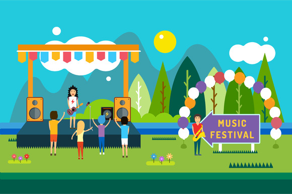 Music Festival Outdoor Illustration