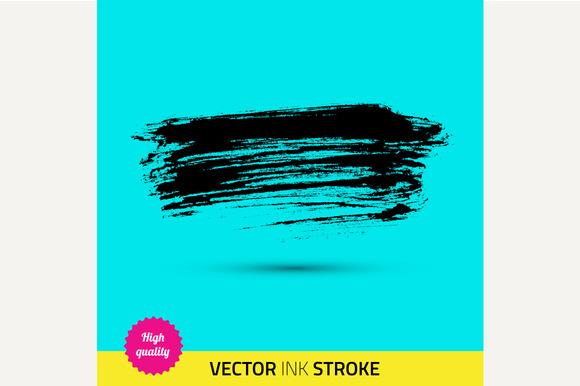Vector paint brush. Ink stroke. - Graphics