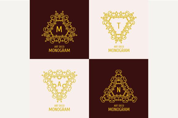 Vintage Floral Logo Monogram Design