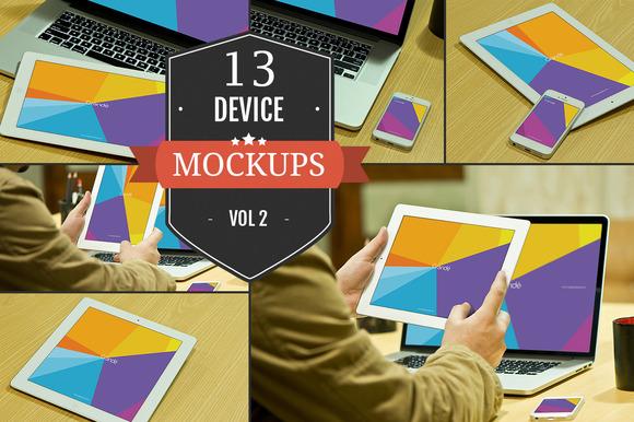 Apple Device PSD Mockups Vol. 2 - Product Mockups