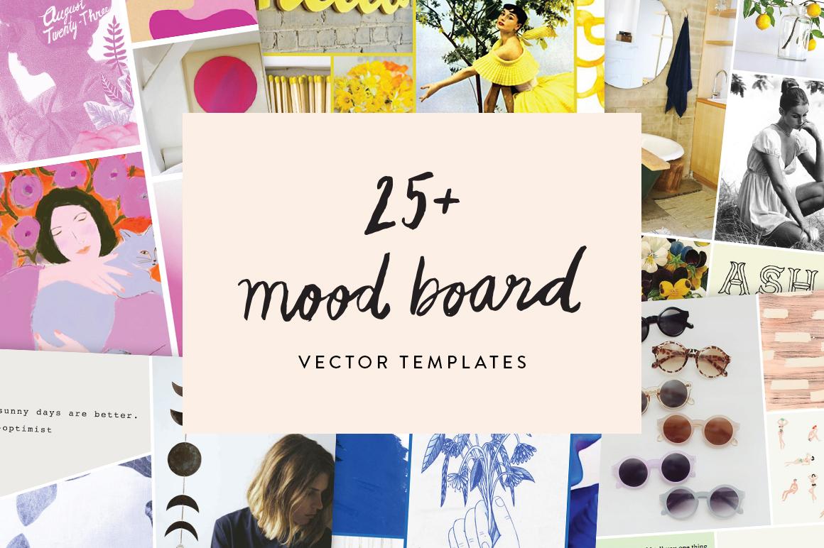 25 Mood Board Vector Templates Presentation Templates