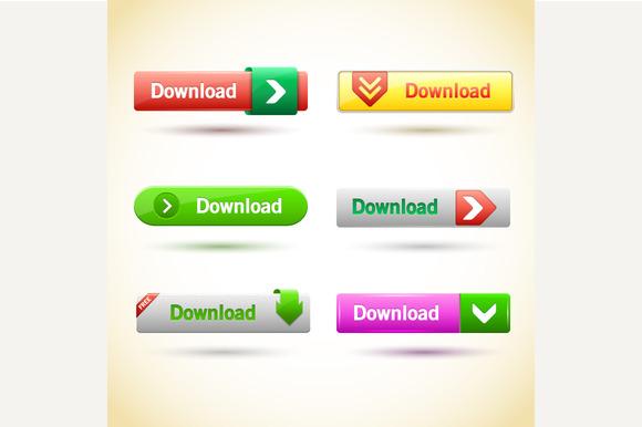 Rectangle Web Buttons Set