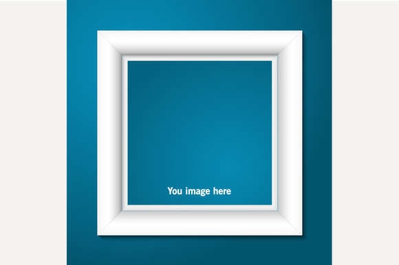 White photo frame. Vector. - Graphics