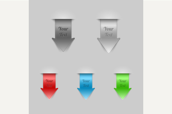 Bookmarks. Arrows. - Graphics