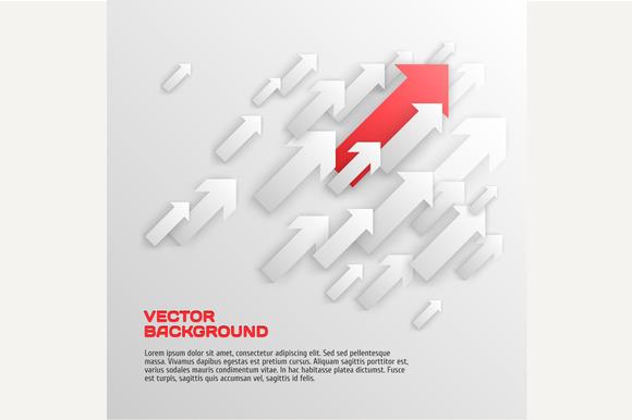 Vector Design Overlapping Arrows