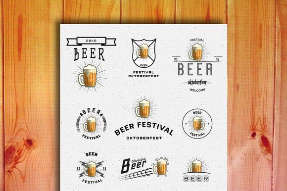 Oktoberfest Set Badges