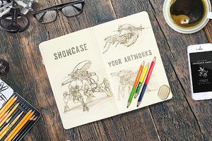 Sketchbook & Notebook Mockups