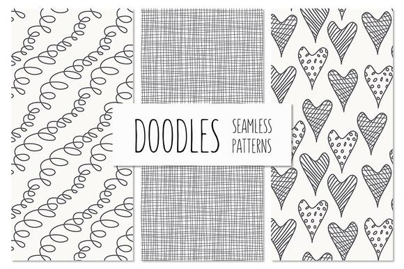 Doodles. Seamless Patterns Set 1 - Patterns