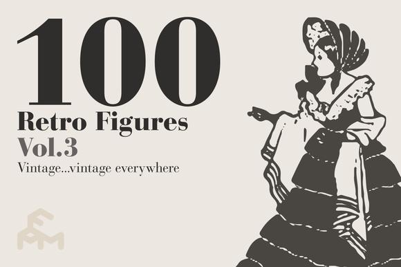 100 Retro Figures - Vol.3 - Illustrations
