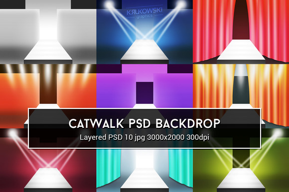 Catwalk PSD Backdrop