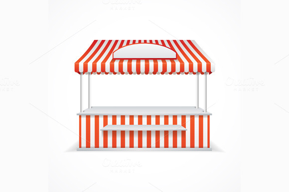 Market stall. Vector - Objects