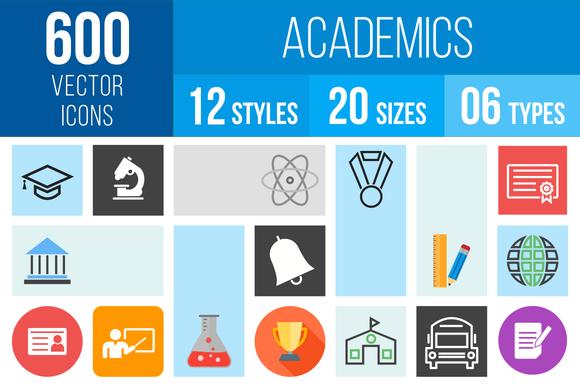 600 Academics Icons
