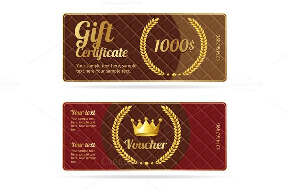 Gift certificate voucher. Vector - Illustrations