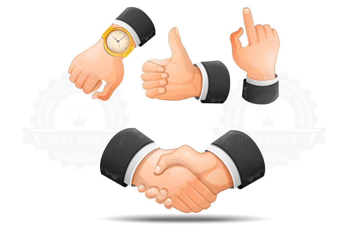 Handshake And Hand Gestures Icons  Icons On Creative Market-2096