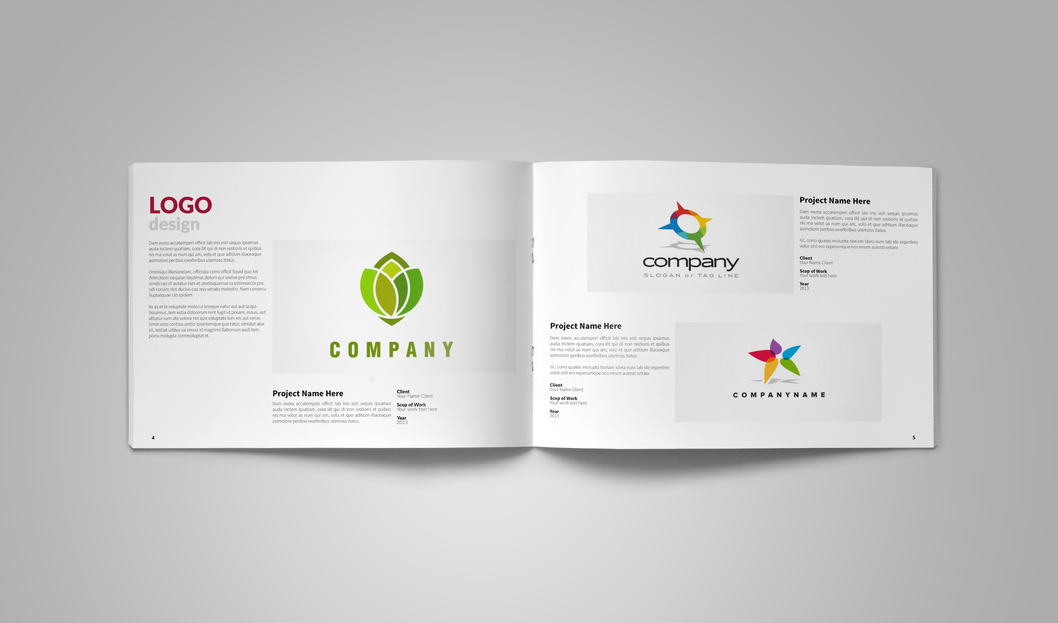 graphic design portfolio template brochure templates on